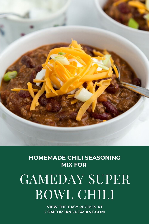 Gameday Super Bowl Chili Comfort Peasant
